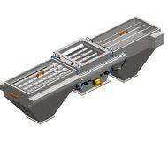 Séparateur magnétique bilatéral MSV LML équipé d'un système de soufflage